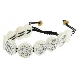 Bracelet os blanc 8...