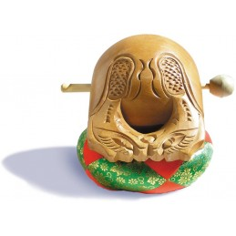 Mokugyo 12 cm avec coussin