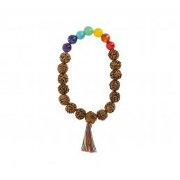 Bracelet-mala Rudraksha 7...