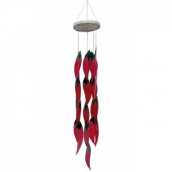 GLAS WIND CHIME CHILIS...