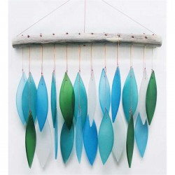 GLAS WIND CHIME LEAVES...