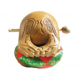 Mokugyo 10,5 cm. avec coussin