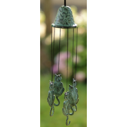 Carillon en bronze - Chat