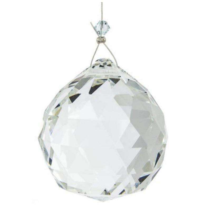 2X transpaG5J1 40MM Feng Shui Pendentif de Boule de cristal facette Decoration